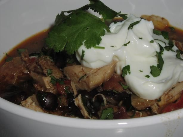 Southwestern Spiced Chicken & Black Bean Stew. Photo by TeresaS
