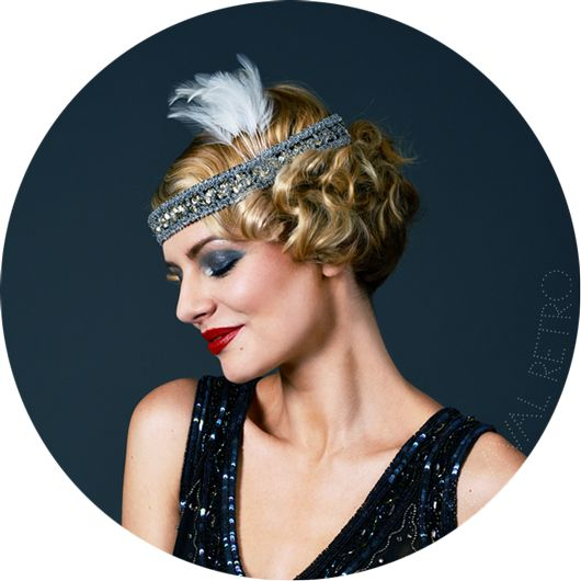 1920s Headband with feather | 20's | Pinterest