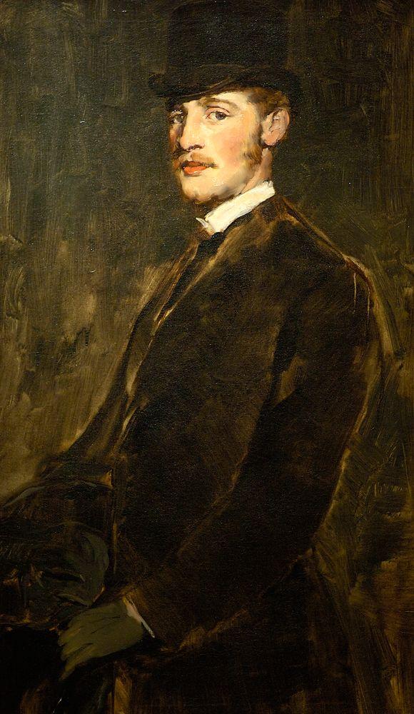 John White Alexander retratado por Frank Duveneck (1879)