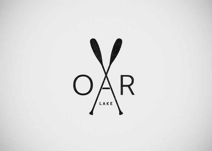 Rowing oars crossed tattoo