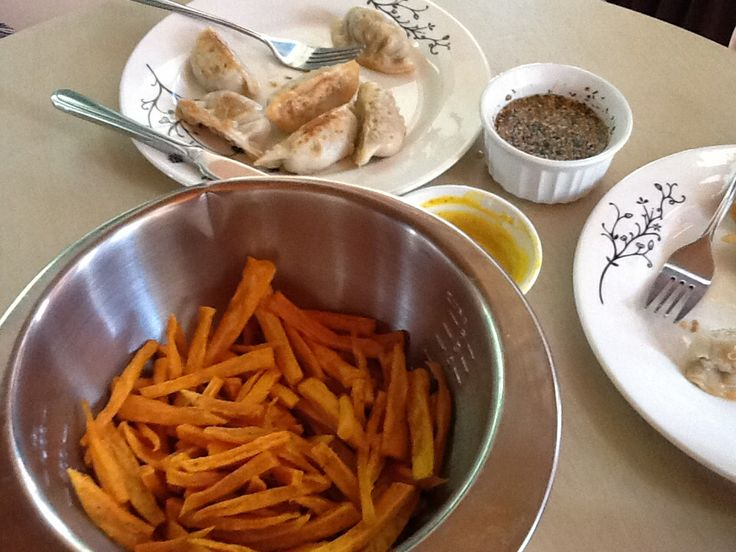 ... / curry sauce, and dumplings with sesame, soy, orange dipping sauce