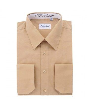 FRENCH/CONVERTIBLE CUFF SHIRT-BEIGE | Mens Dress Shirts | Pinterest