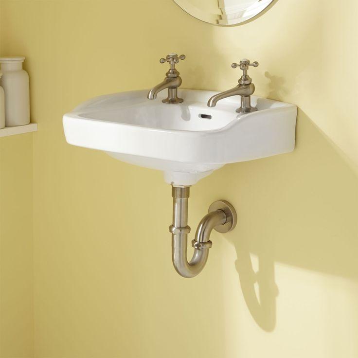 Vietti Wall-Hung Lavatory With Wall Brackets - White - Bathroom Sinks ...