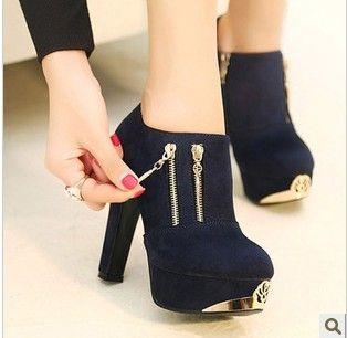 2013 martin motorcycle boots women fashion metal zip high heels