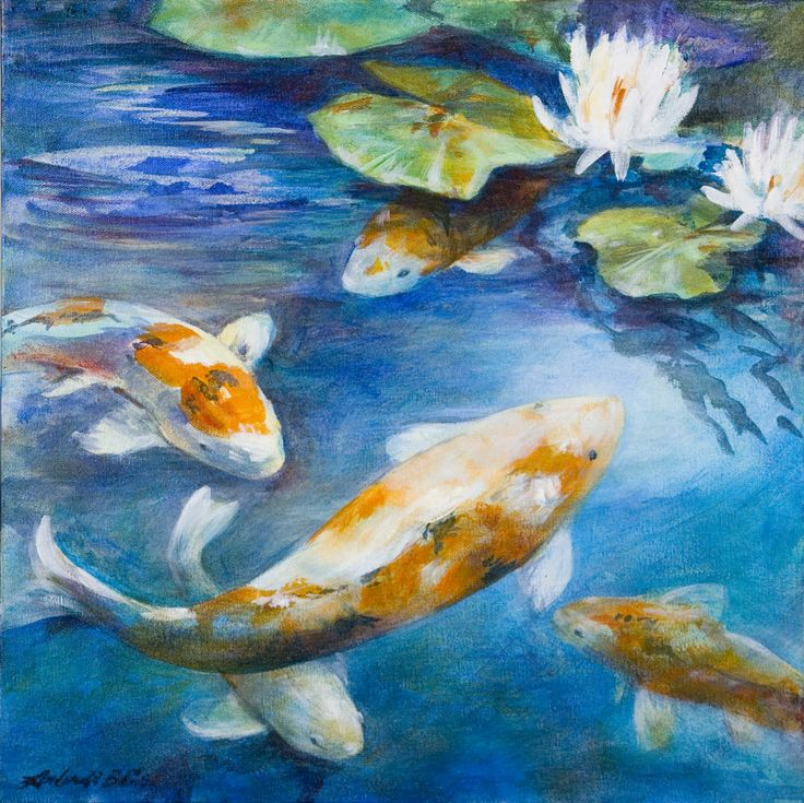Koi Acrylic Painting