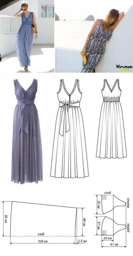 Как сшить греческое платье с выкройкой 813