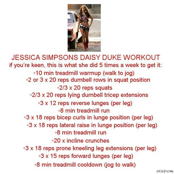 Jessica Simpson's Daisy Duke workout | FITSPO ;) | Pinterest