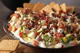 cobb salad dip recipe | Yummy Foods I'd like to try | Pinterest