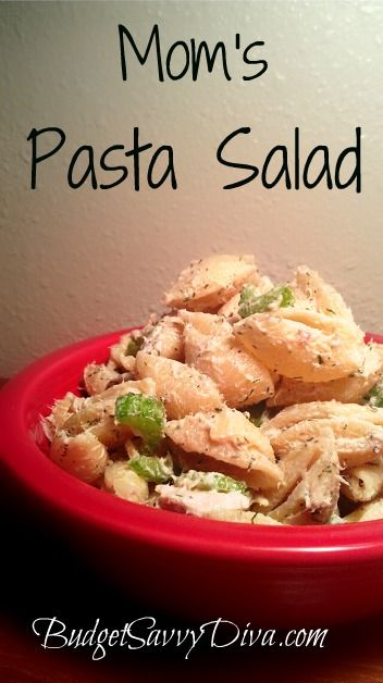 This is Budget Savvy Diva Mom's Famous Pasta Salad