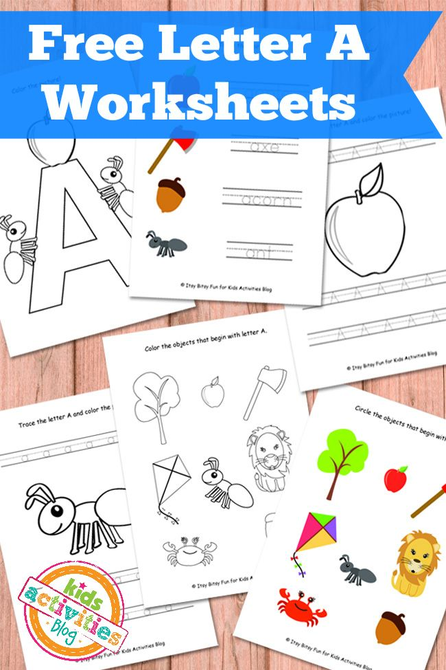 Letter A Worksheets Free Kids Printables - Kids Activities Blog