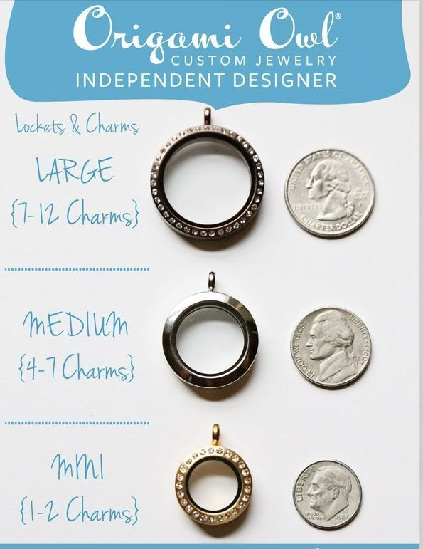 origami owl locket size comparison how big how many