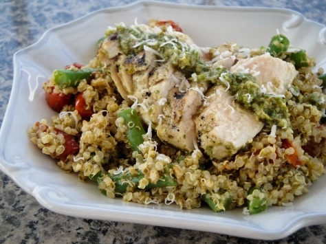 Pesto Chicken, Roasted Tomato and Quinoa | I Am a Foodie | Pinterest