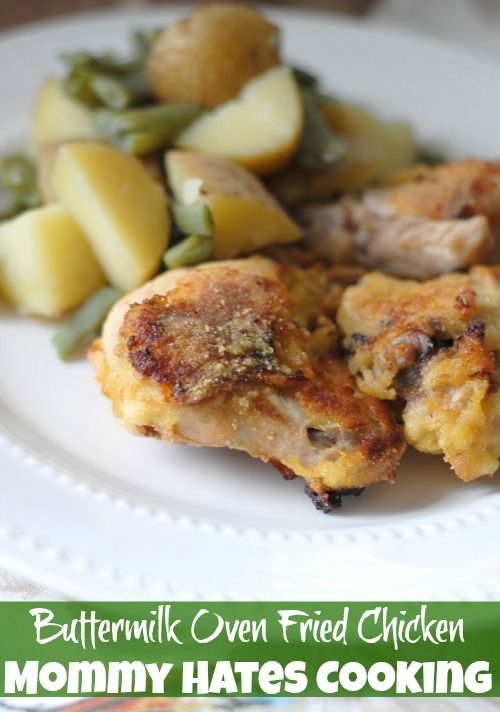 Recipe - Buttermilk Oven Fried Chicken I Mommy Hates Cooking