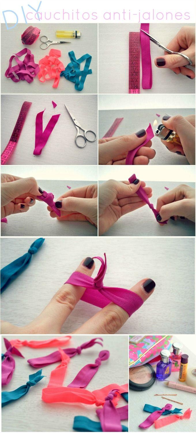 Делаем резинки для волос своими руками