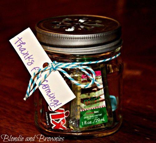mason jar gift ideas | mason jar party favors | gift ideas