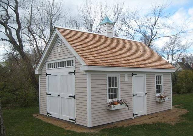 Cape cod style building the garden sheds pinterest for Shed styles