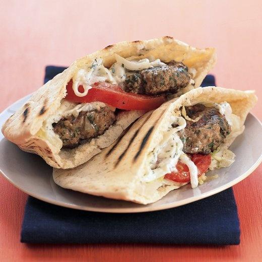 Mini Greek Lamb Burgers   Recipe