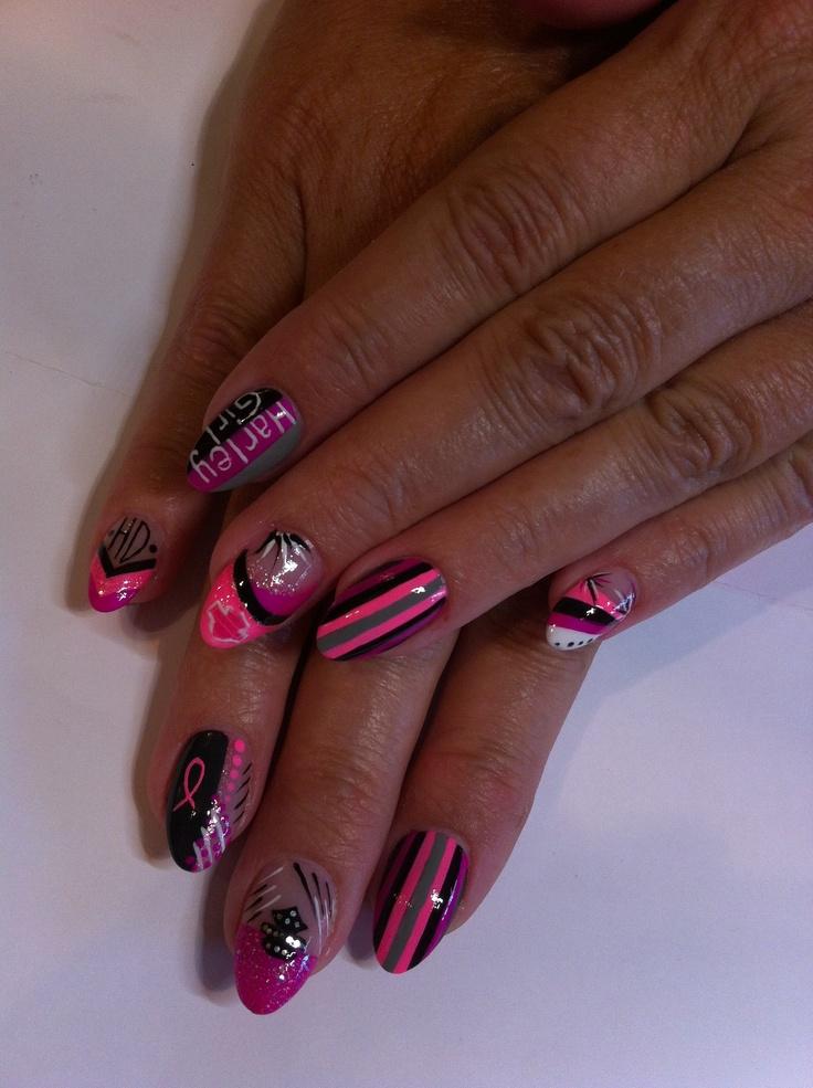 innovative harley davidson nail art&design pictures indicates inspiration  article - Harley Davidson Nail Art Designs – Slybury.com