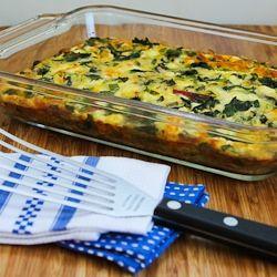 Kalyn's Kitchen: Recipe for Swiss Chard, Mozzarella, and Feta Egg Bake
