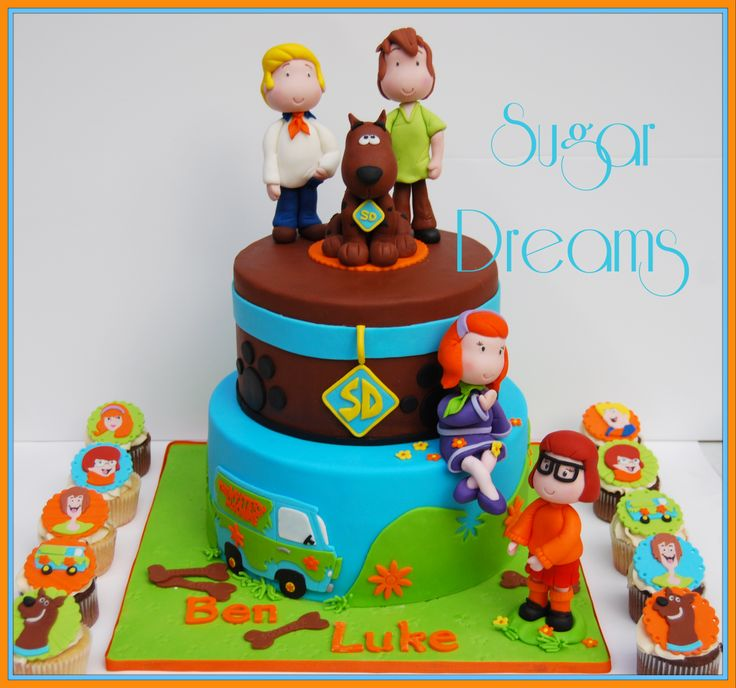 birthday cakes with scooby doo with no fondant