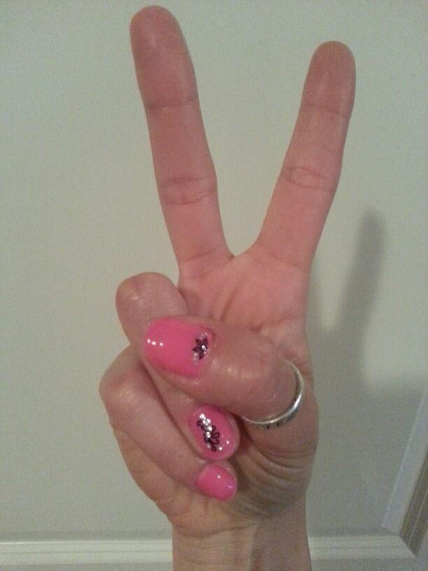 DIY shellac mani with nail art | Nail Ideas! | Pinterest