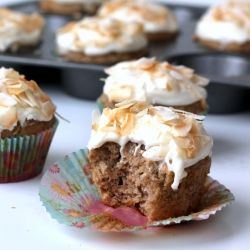 Skinny Hummingbird Cupcakes with Toasted Coconut Cream Cheese frosting ...
