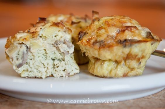 Leek and Mushroom Quiche Cups | Recipes to Try | Pinterest