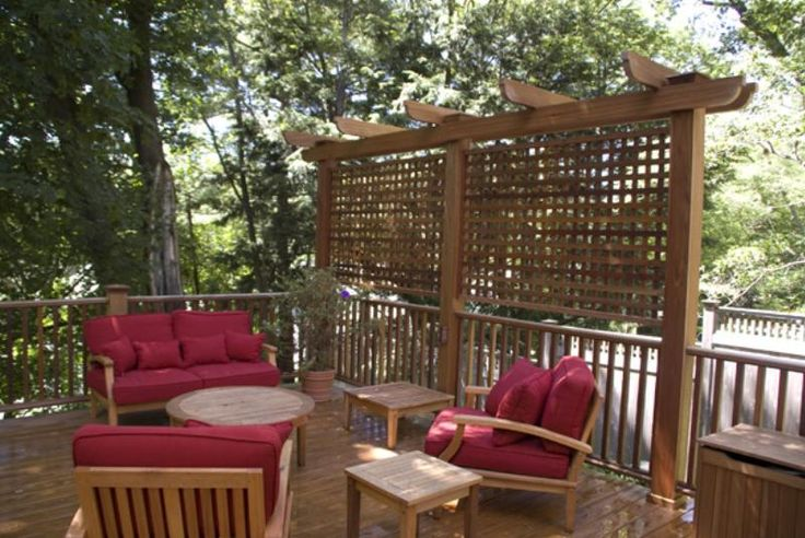 Deck trellis basically this idea outdoor pinterest for Trellis ideas for privacy