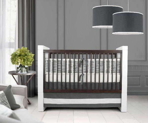 brown and white crib future kids room pinterest. Black Bedroom Furniture Sets. Home Design Ideas