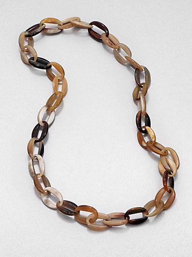 Nest - Horn Link Necklace - Saks.com | I Need a Bigger Closet. | Pint ...