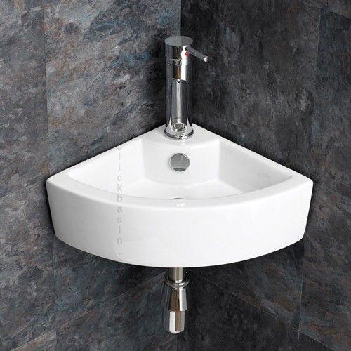 Small Corner Wash Hand Basins : ... sized Wall Mounted Olbia Small Corner Basin www.clickbasin.co.uk