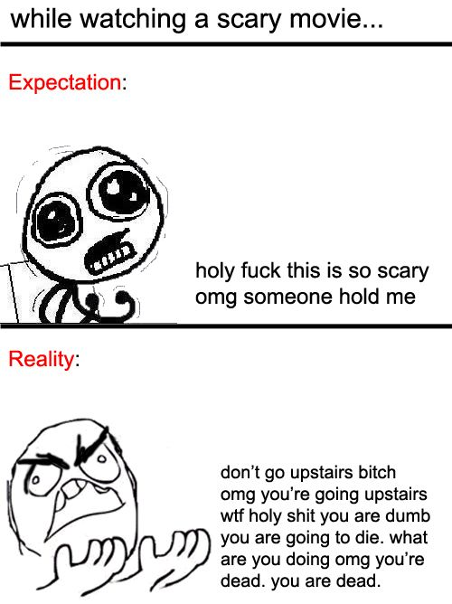 scary movies.