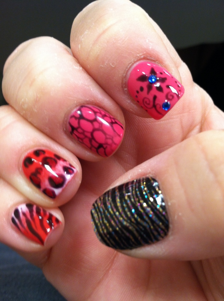 Opi gel manicure with design | LeonaLicious.. | Pinterest