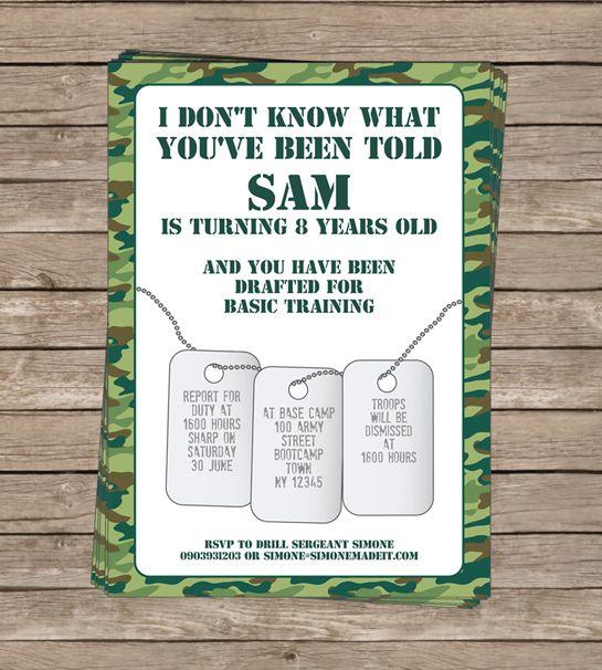 army birthday invitations wording