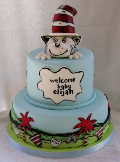 cat in the hat baby shower cakes pinterest