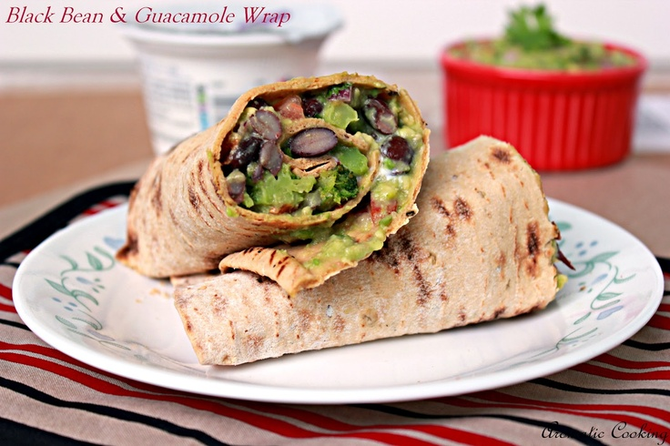 Aromatic Cooking: Blackbean And Guacamole Wrap I will use a GF wrap ...