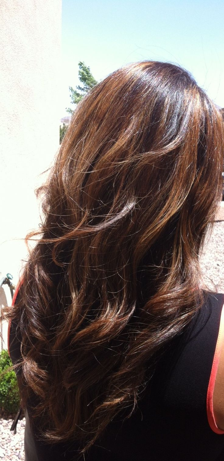 Red Highlights , Brown Hair With Caramel Highlights , Light Brown Hair ...