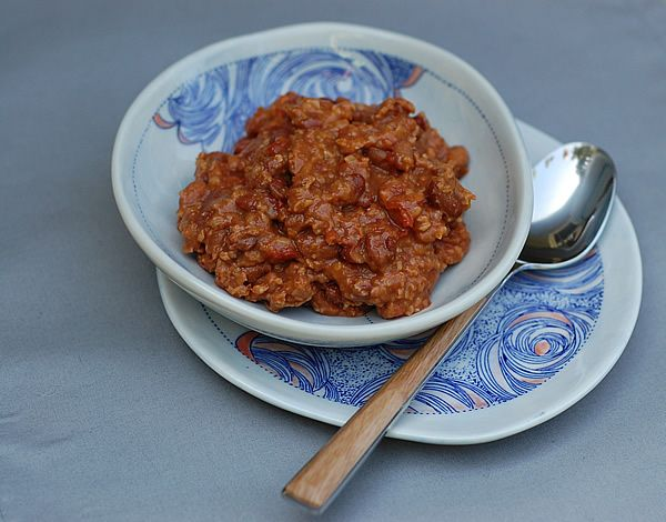 Slow cooker chili with 3 beans of your choice, bulgur and millet all ...