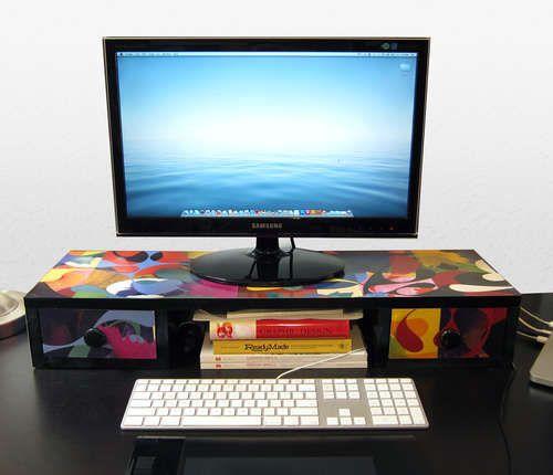 desk shelf for monitor getting crafty pinterest