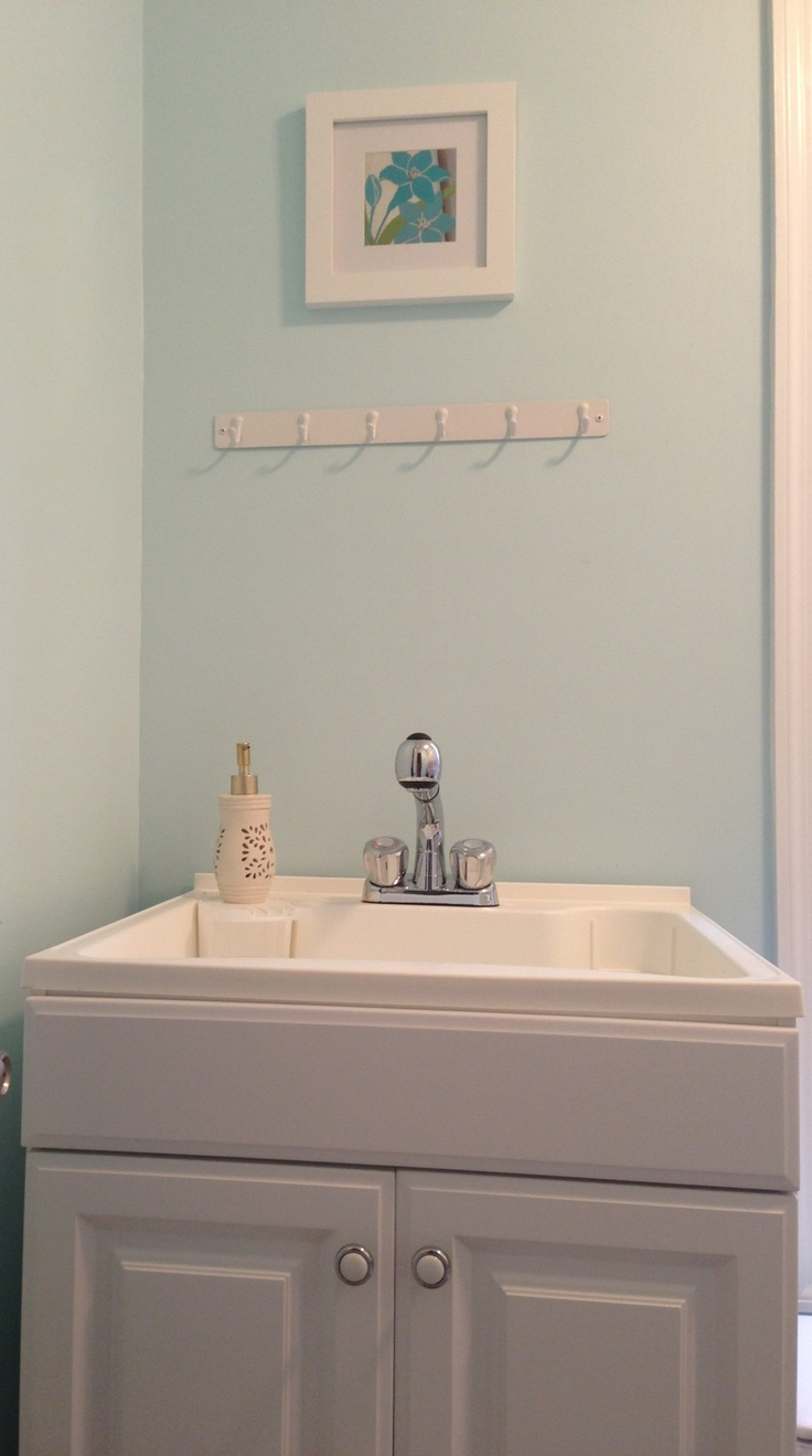 Laundry Room. Utility sink with cabinet from Lowes, approximately 200 ...