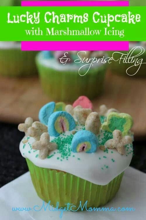 Lucky Charms cupcakes...cute idea for upcoming St. Patty's day! | st ...