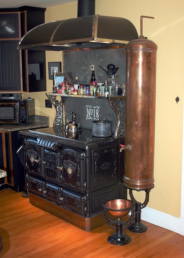 Vintage steampunk kitchen kitchen pinterest for Kitchen designs steampunk