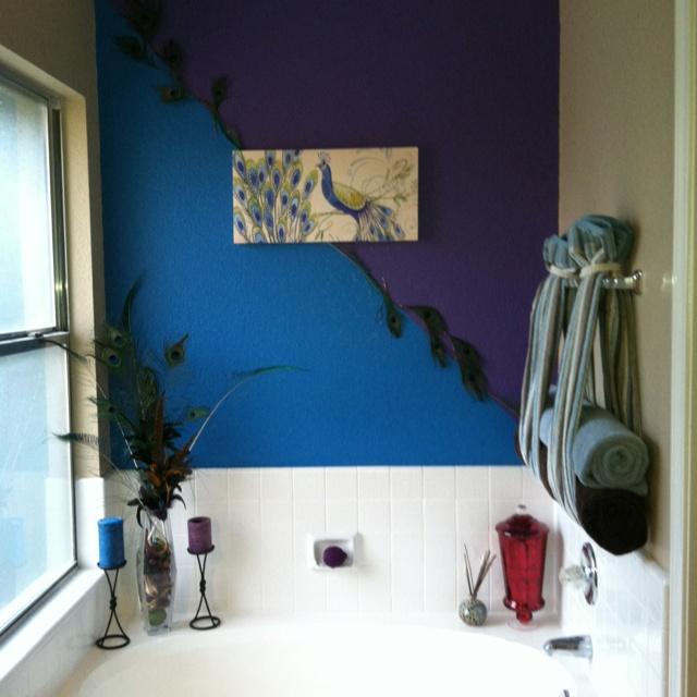 Peacock bathroom wall bathrooms pinterest for Peacock bathroom ideas
