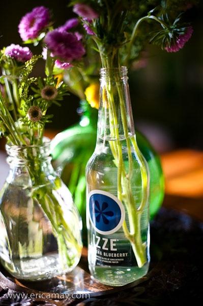 Use old glass bottles as flower vases for the home for Uses for old glass bottles