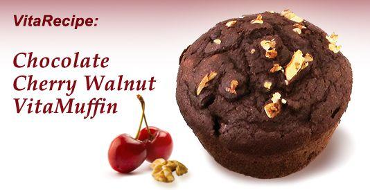 Chocolate Cherry Walnut VitaMuffins | Muffin: Chocolate | Pinterest