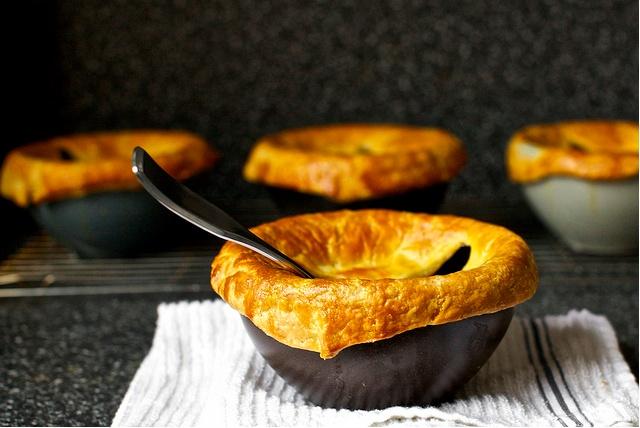 Pancetta, White Bean, and Chard Pot Pies. http://smittenkitchen.com ...
