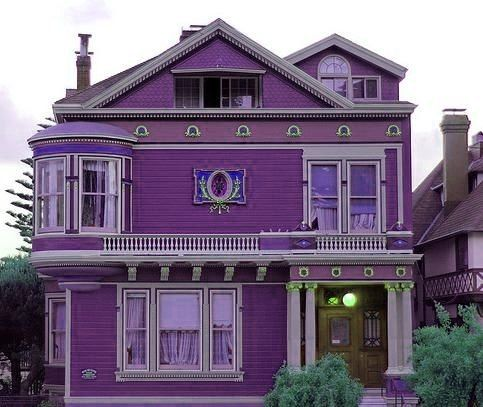 Purple exterior purple house pinterest - Purple exterior paint image ...