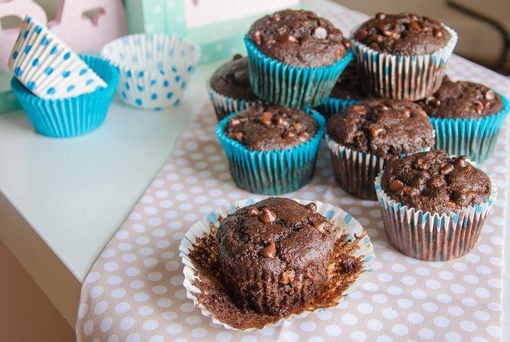 Skinny-Choc-Fudge-Banana-Muffins-Full | Recipes etc | Pinterest
