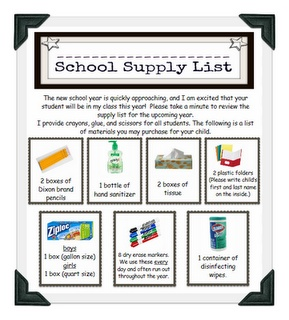 School supply list made easy classroom inspiration pinterest