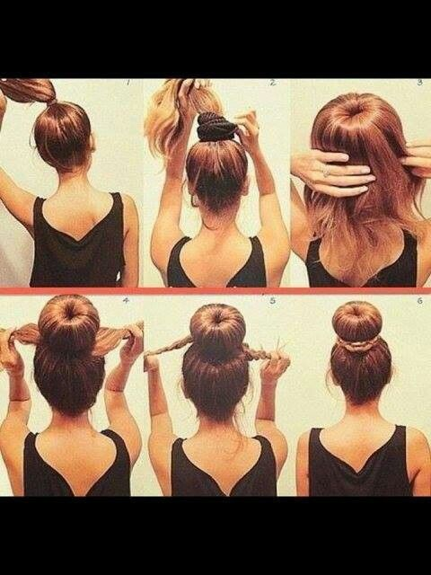 Sock bun step by step | Hair Styles :0) | Pinterest